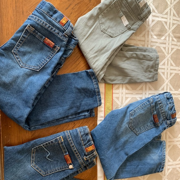 7 For All Mankind Other - 4 pairs of 7 FAM kid jeans
